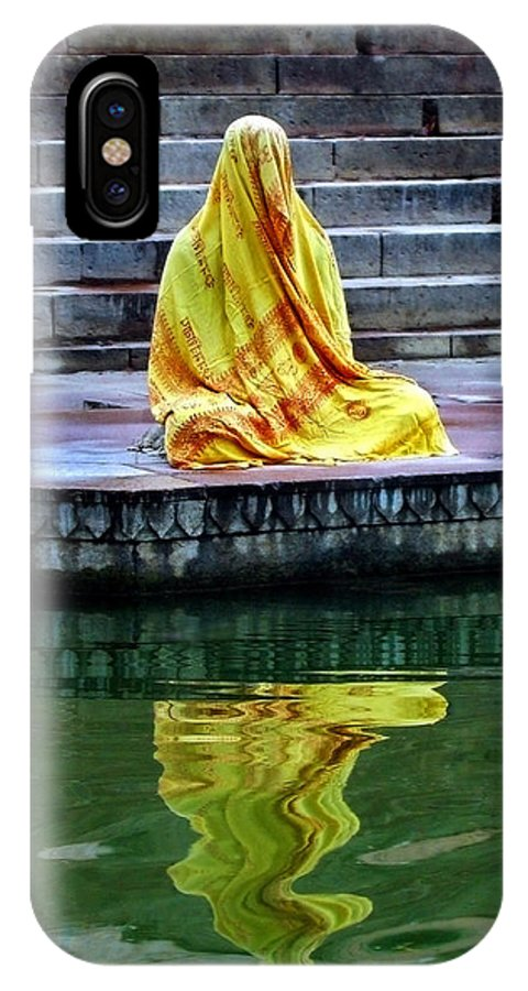 Meditate IPhone X Case featuring the photograph Ganga Dream by Skip Hunt
