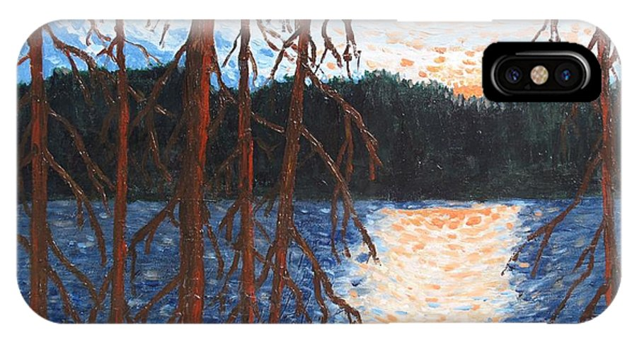 Setting Sun IPhone X Case featuring the painting Georgian Bay Ghosts by Ian MacDonald