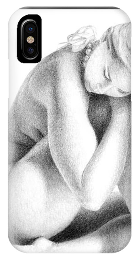 Print IPhone X Case featuring the drawing Grace Of Form print only by Joseph Ogle