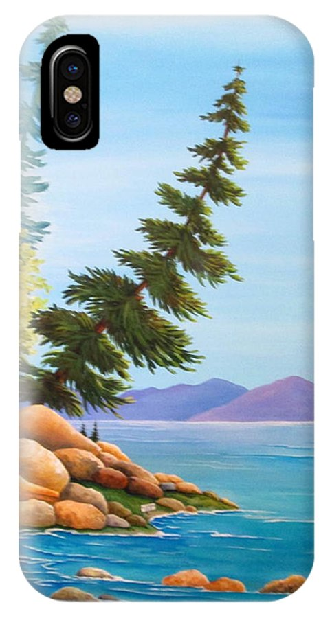 Hidden Cove iPhone X Case featuring the painting Hidden Cove by Carol Sabo
