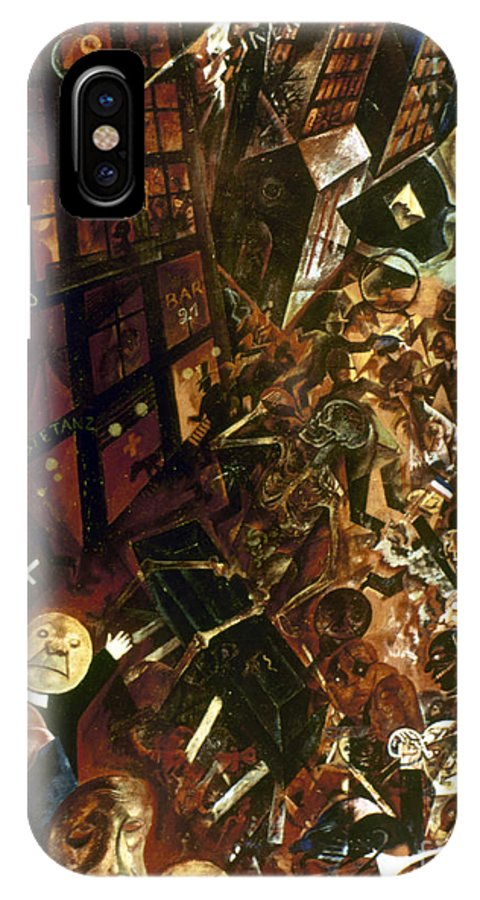 1917 IPhone X Case featuring the painting Homage To Panizza by George Grosz