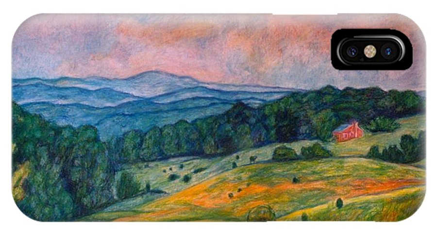 Ingles Mountain IPhone X Case featuring the painting Ingles Mountain by Kendall Kessler
