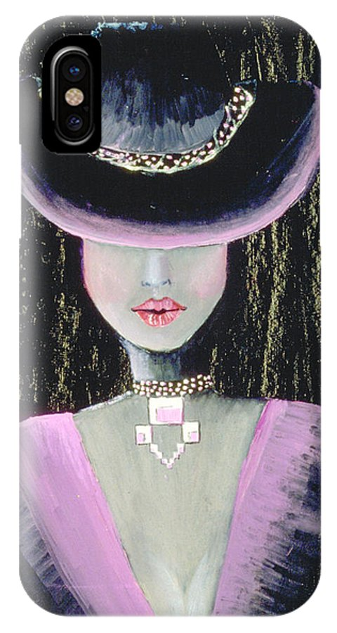 Jandrel IPhone X Case featuring the painting Into The Night by J Andrel