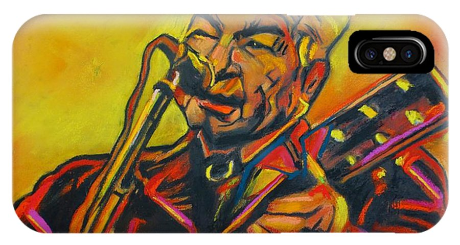 John Prine IPhone X Case featuring the painting John Prine - 2020 by Eric Dee