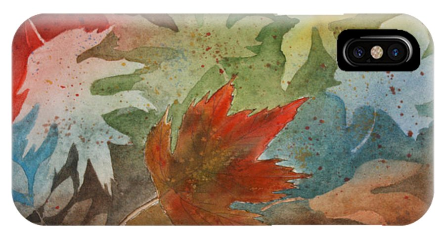 Leaves IPhone X Case featuring the painting Leaves II by Patricia Novack