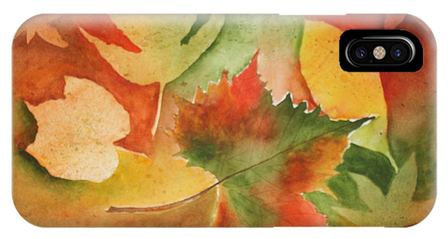 Leaves IPhone X Case featuring the painting Leaves III by Patricia Novack