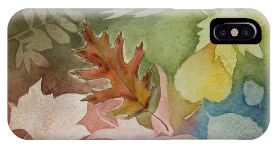 Leaves IPhone X Case featuring the painting Leaves IV by Patricia Novack