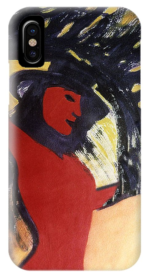 Figure IPhone X Case featuring the painting Liberation by Ingrid Torjesen