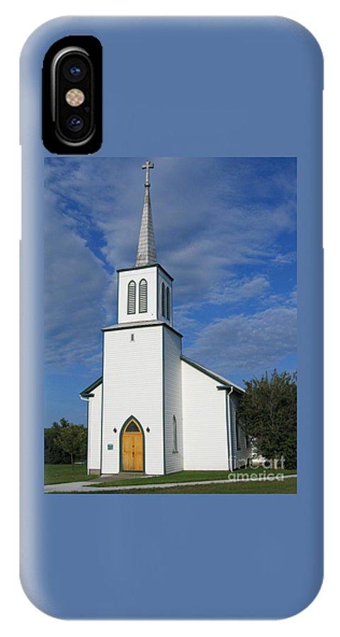 Church IPhone X Case featuring the photograph Light by Ann Horn