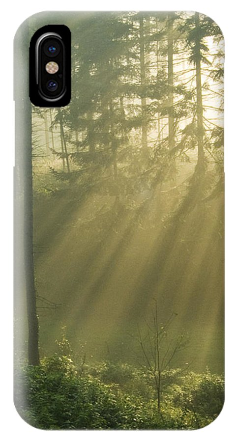 Nature IPhone X Case featuring the photograph Light from Heaven by Daniel Csoka