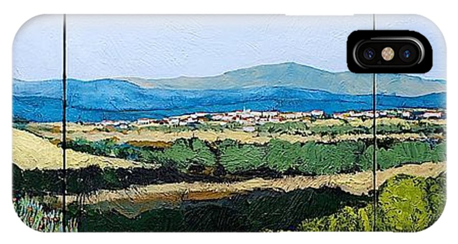 Landscape IPhone X Case featuring the painting Long Get Away by Allan P Friedlander