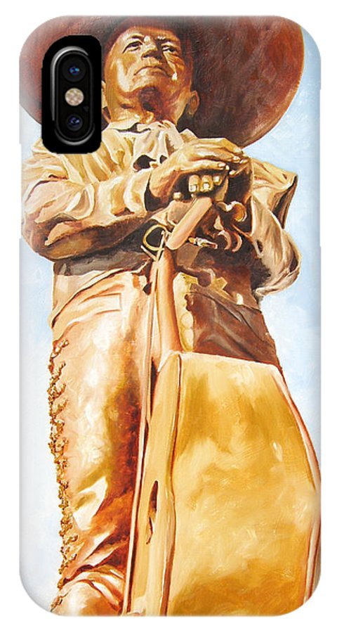 Mariachi IPhone X Case featuring the painting Mariachi by Laura Pierre-Louis