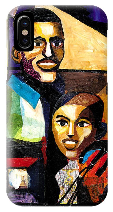 Everett Spruill IPhone X Case featuring the painting Me and Dad by Everett Spruill