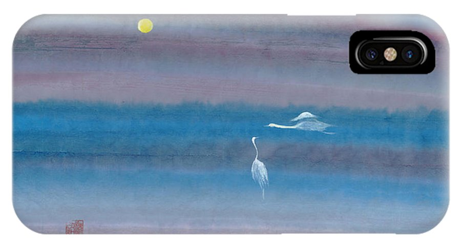 In The Mist Of The Night IPhone X Case featuring the painting Misty Fairies by Mui-Joo Wee