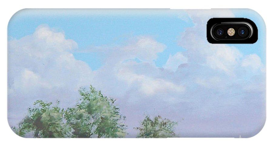 Monterey IPhone X Case featuring the painting Monterey by Philip Fleischer