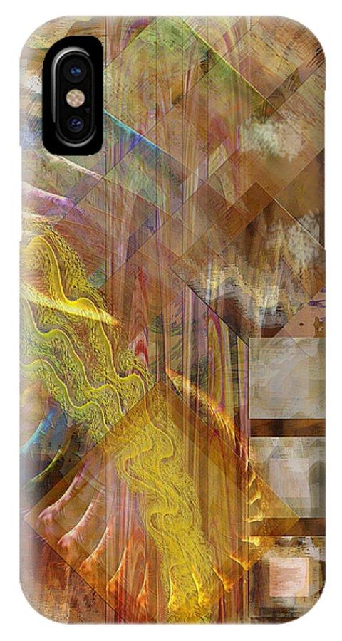 Morning Dance IPhone X Case featuring the digital art Morning Dance by John Robert Beck