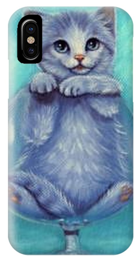 Whimsy IPhone X Case featuring the painting My Cup Runneth Over by L Risor