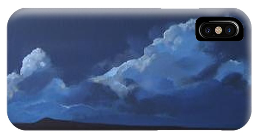 Landscape IPhone X Case featuring the painting Nocturne by Hunter Jay