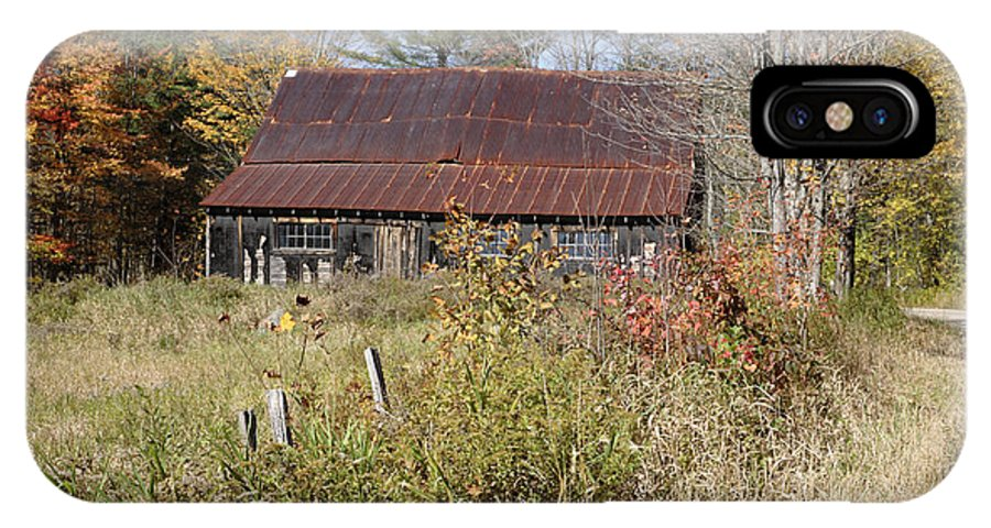 Autumn IPhone X Case featuring the photograph Old Barn - Campton New Hampshire by Erin Paul Donovan