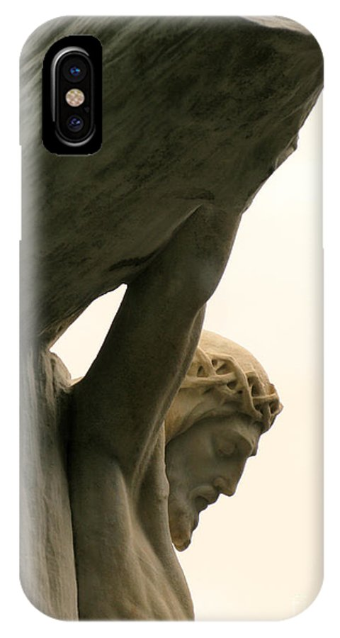 Crucifixion IPhone X Case featuring the photograph On the Cross by Ann Horn