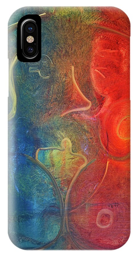 Prints IPhone X Case featuring the painting Passion by Jack Diamond