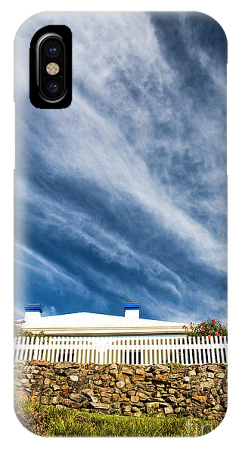 White Picket Fence IPhone X Case featuring the photograph Picket fence by Sheila Smart Fine Art Photography