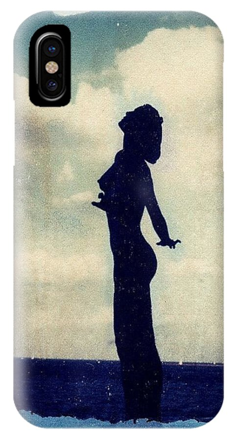 Woman IPhone X Case featuring the photograph Polaroid Transfer Woman by Jane Linders