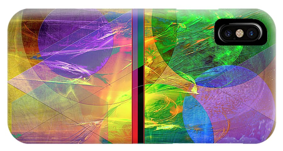 Progressive Intervention IPhone X Case featuring the digital art Progressive Intervention by John Robert Beck