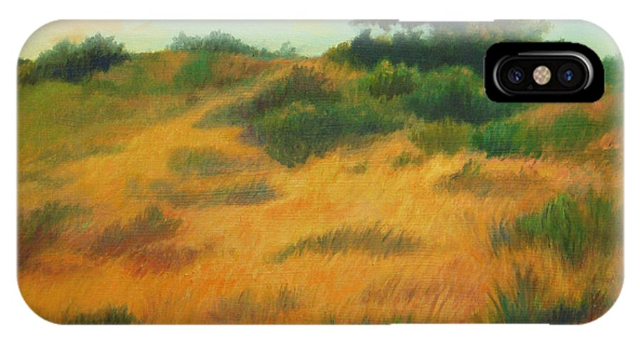 Cape Cod Scene IPhone X Case featuring the painting Province Lands Cape Cod by Phyllis Tarlow