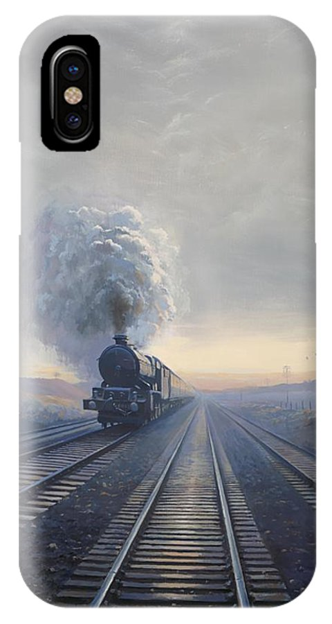 Railway IPhone X Case featuring the painting Purley King by Richard Picton