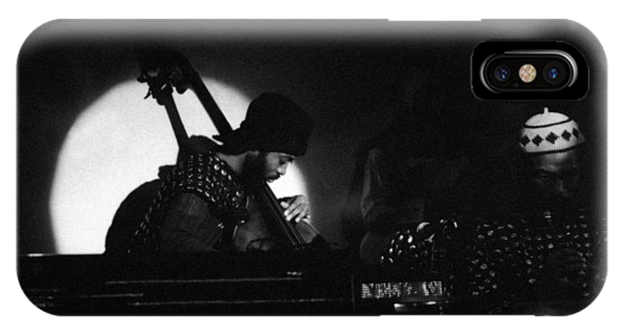 Sun Ra IPhone X Case featuring the photograph Radu - Sun Ra Arkestra Bassist by Lee Santa