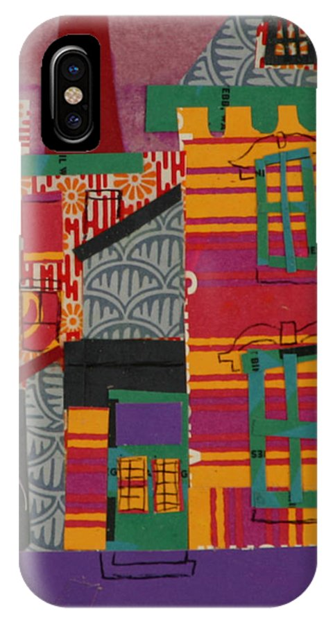 Lowell IPhone X Case featuring the mixed media Revolving Museum by Debra Bretton Robinson