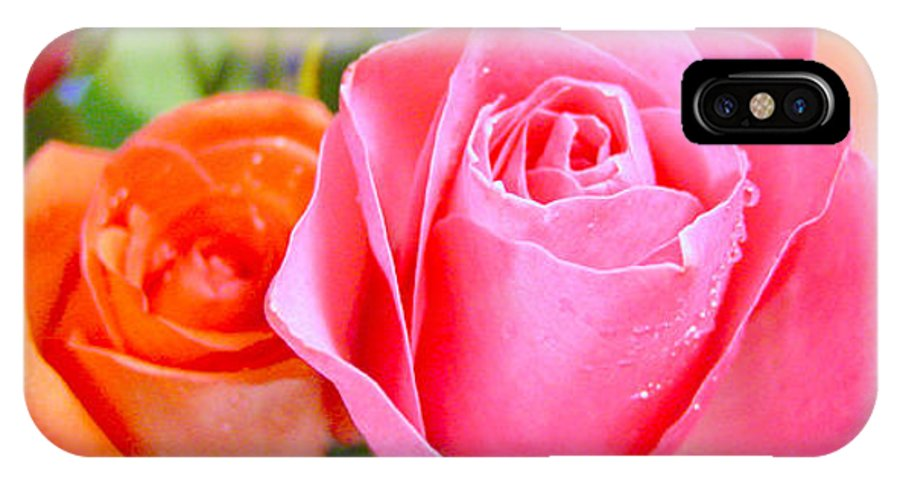 Roses IPhone X Case featuring the photograph Roses by Jodi Bauter