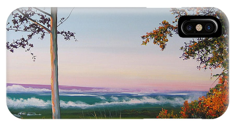 Landscape IPhone X Case featuring the painting September Sky by Hunter Jay