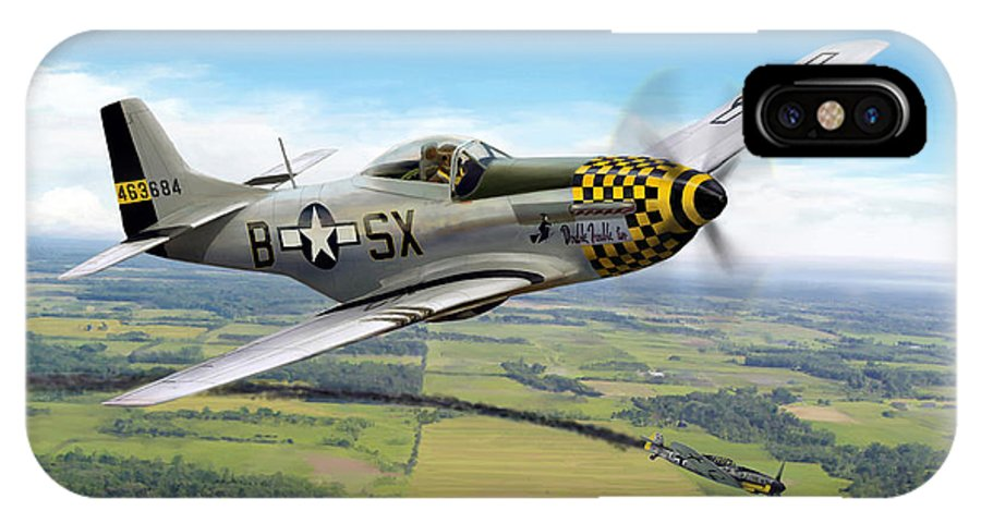 Aviation IPhone X Case featuring the painting Slybird by Mark Karvon