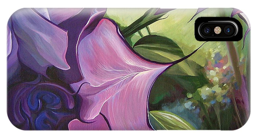 Jimson Weed IPhone X Case featuring the painting Sometimes In Summer by Hunter Jay