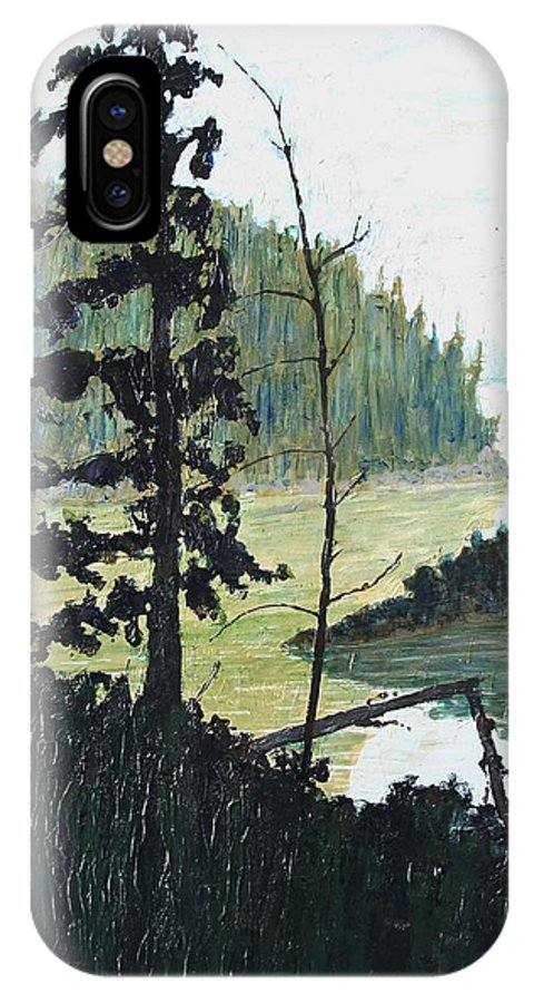 Sudbury IPhone X Case featuring the painting South of Sudbury by Ian MacDonald