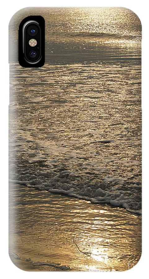 Sunrise IPhone X Case featuring the photograph Sparkling Morning Sea at Hunting Island by Anna Lisa Yoder