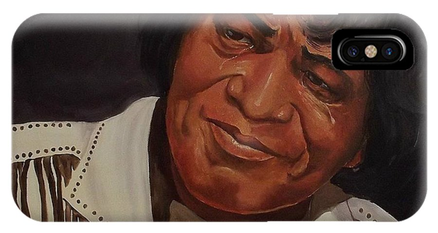 James Brown IPhone X Case featuring the painting Tears Of Joy by Wanda Dansereau