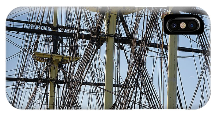 America IPhone X Case featuring the photograph The Friendship of Salem Tall Ship in Salem Massachusetts USA by Erin Paul Donovan