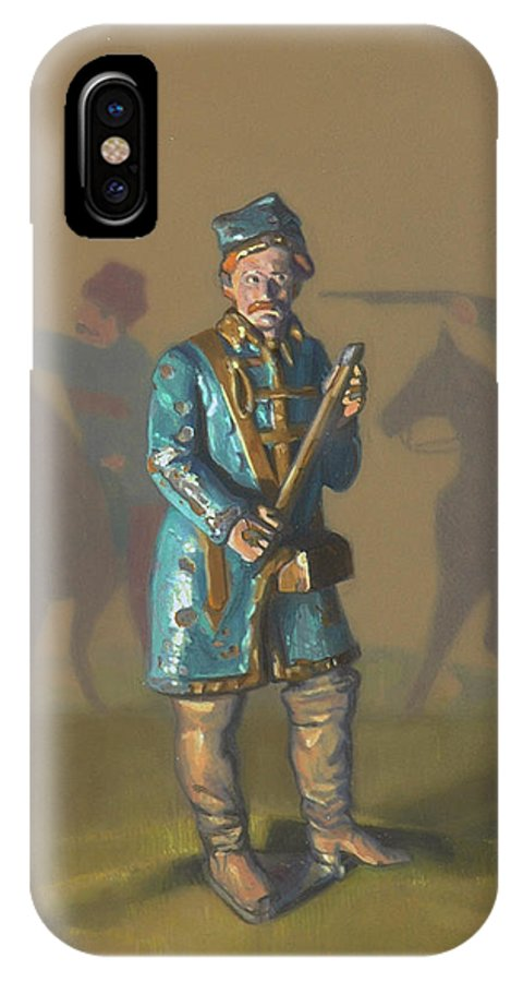 Poland IPhone X Case featuring the painting The Invaders by David Dozier
