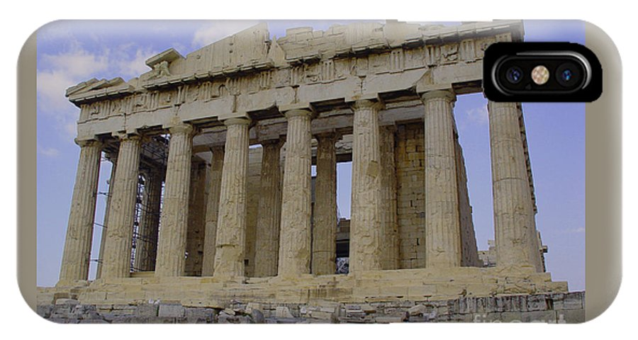 Athens IPhone X Case featuring the photograph The Parthenon by Nancy Bradley