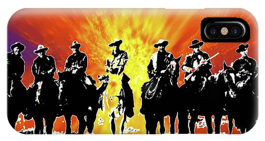 The Posse IPhone X Case featuring the digital art The Posse by Seth Weaver