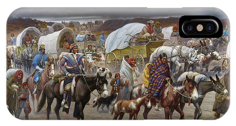 1838 IPhone X Case featuring the painting The Trail Of Tears by Granger