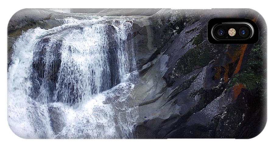 Tropical IPhone X Case featuring the photograph Top End Flow - Josephine Falls by Kerryn Madsen- Pietsch