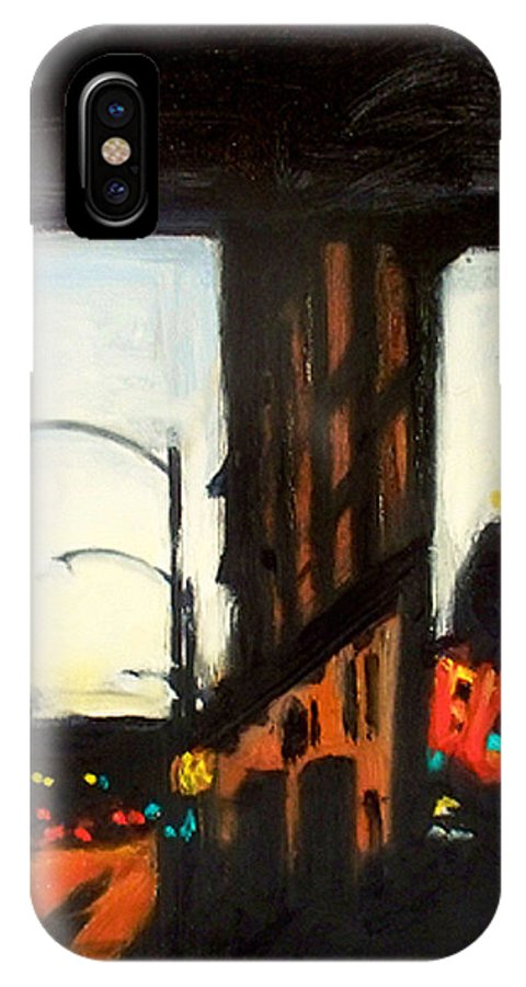 Rob Reeves IPhone X Case featuring the painting Twilight in Red and Black by Robert Reeves