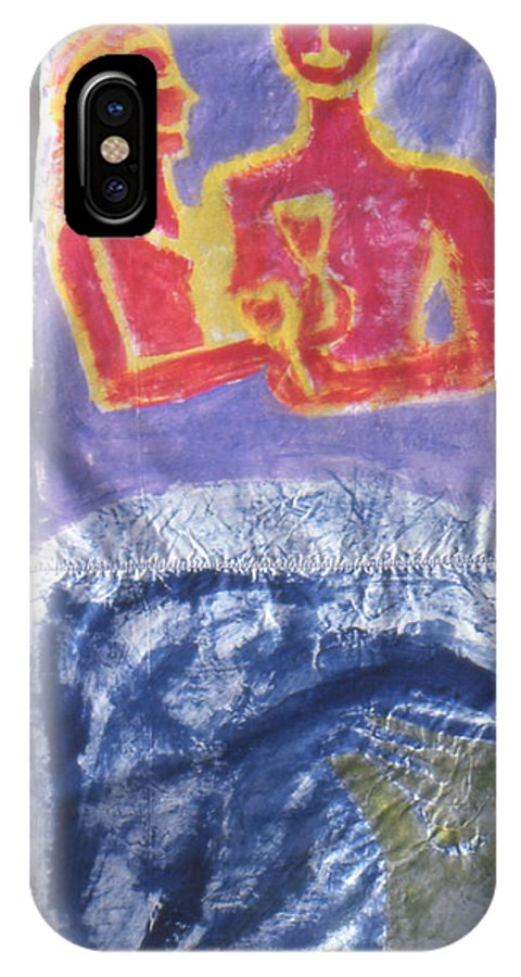 Figure IPhone X Case featuring the painting Undisclosed information by Ingrid Torjesen