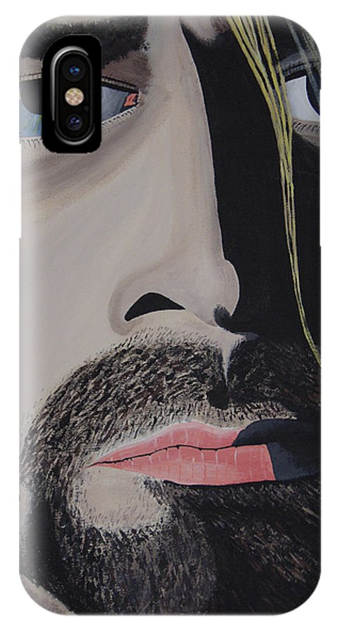 Rockumentory IPhone X Case featuring the painting Unwilling Voice by Dean Stephens