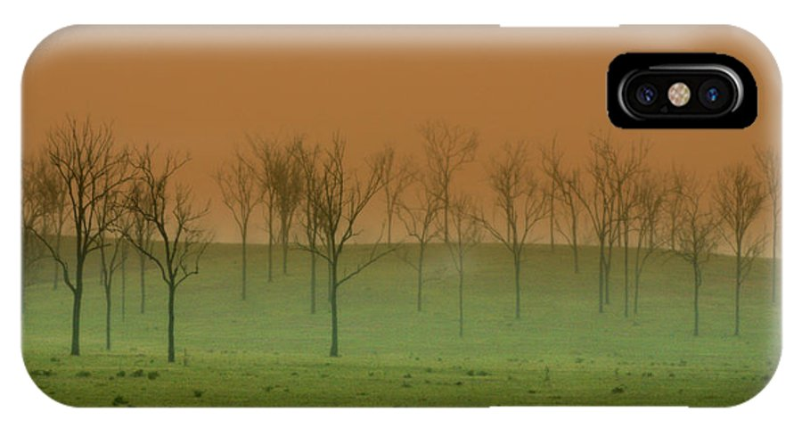 Landscape IPhone X Case featuring the photograph Veil of Mystery by Holly Kempe