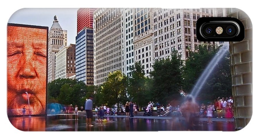 Water IPhone X Case featuring the photograph Water Fun in Chicago 1 by Sven Brogren